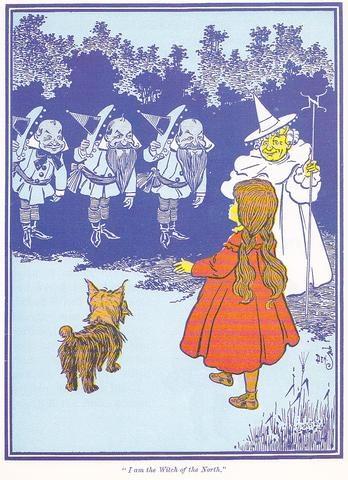 Munchkins, Good Witch Meet Dorothy,  Toto (Los Munchkins y la Bruja Buena conocen a Dorothy y Toto)