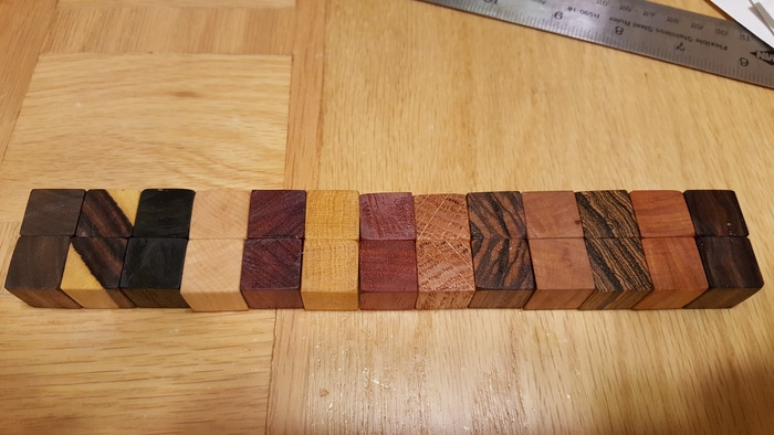 13 hard and exotic woods make up the Dice Base: Master Screen Initiative tracker system.