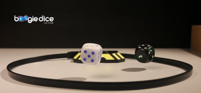Clap your hands and Boogie Dice will start to roll by themselves like magic!