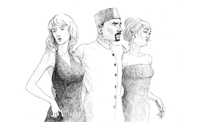 """Illustration de l'enquête """"La loi du plus fort"""" (Baptiste Reymann)"""