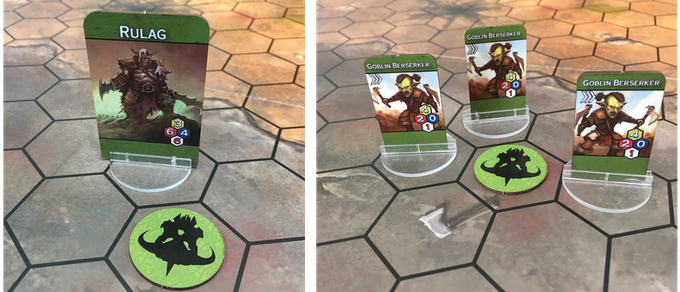 Players advance their frontline by placing mana generators adjacent to their Warlord allowing them to generate more mana per turn and spawn units at these generators. This creates a strategic tug of war between the players.