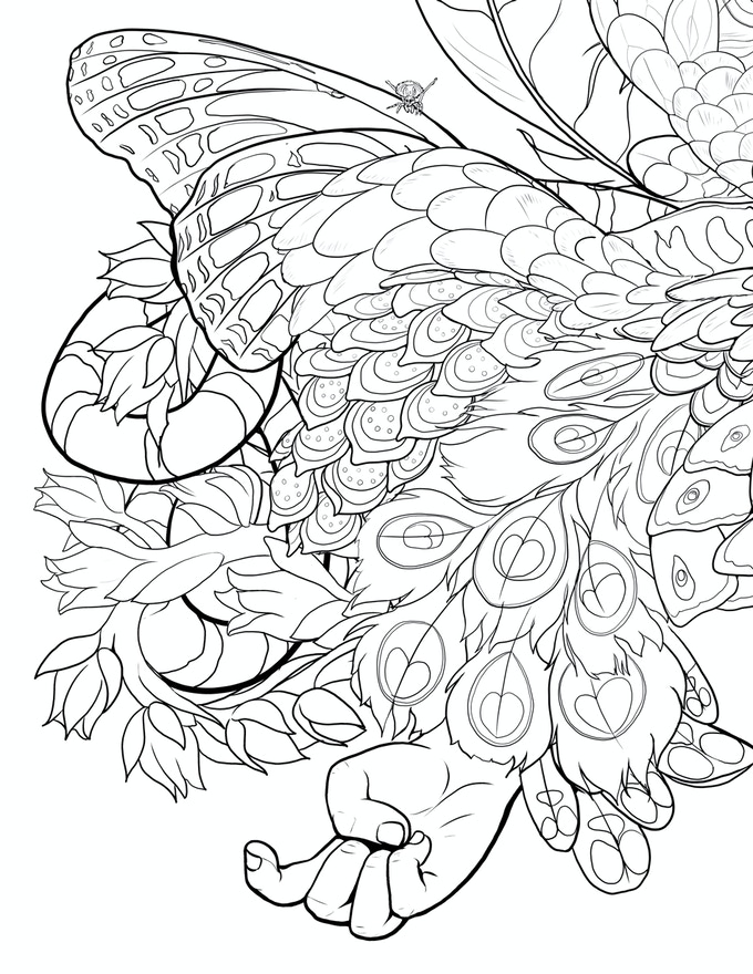 An Example Of One The Bonus Coloring Pages