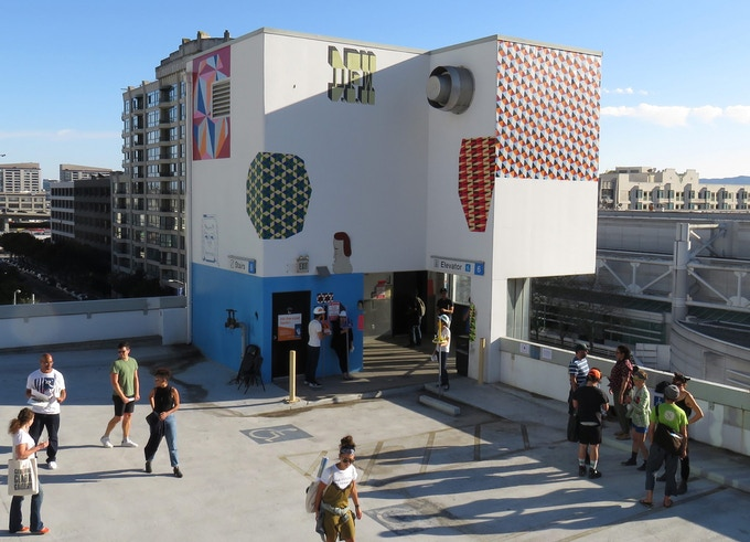 Barry McGee installation at the Moscone Center Garage on Clementina Street in downtown San Francisco (photo by Stash Maleski/ICU Art)