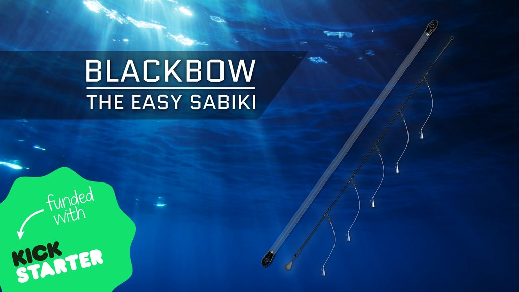 Blackbow the easy sabiki by phil brown kickstarter for Sabiki rig fishing