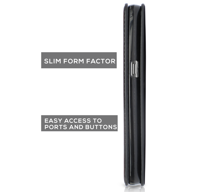 Integrated magnetic snap makes our cases thinner