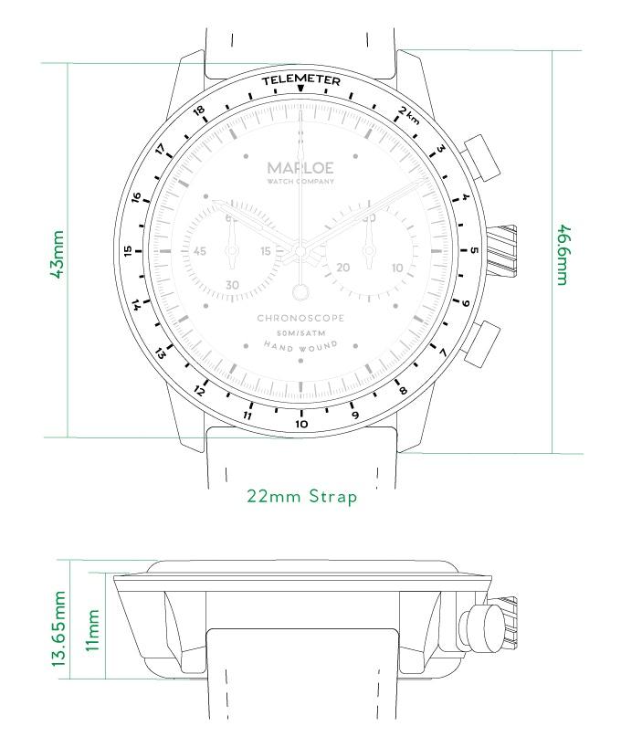 Lomond Chronoscope Hand-Wound Watch by Marloe Watch Co