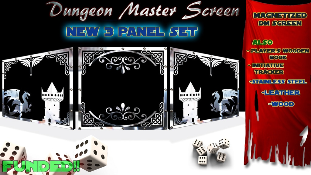 Game Master Screen, Player's wooden Book and RPG accessories project video thumbnail