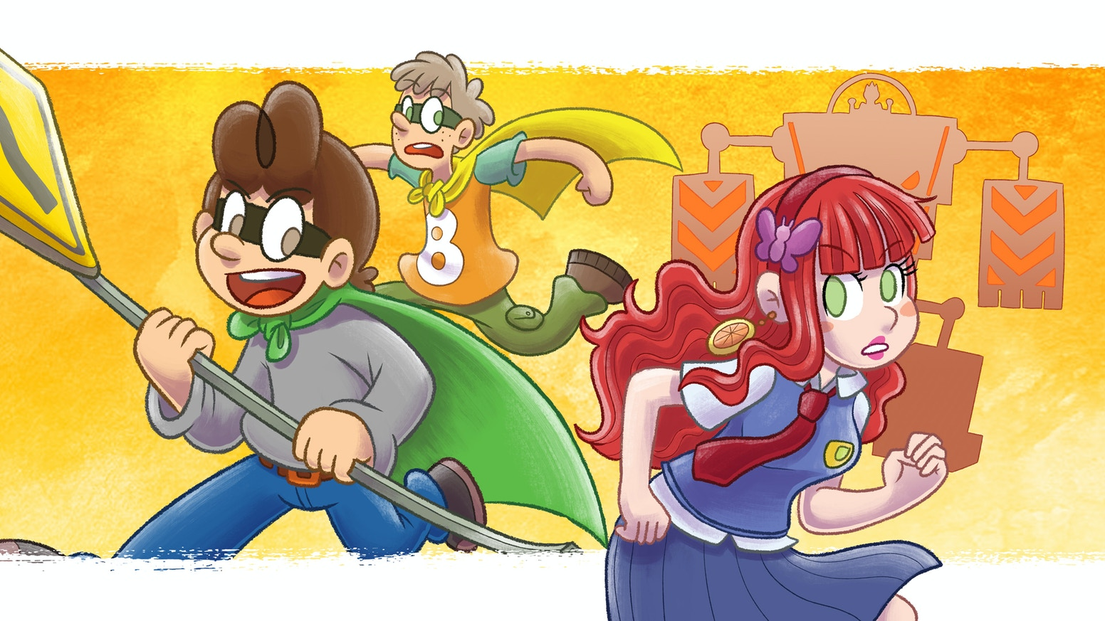 A silly, teenage superhero webcomic by Yves Bourgelas! / Une bande dessinée humoristique de superhéros adolescents, par Yves Bourgelas!