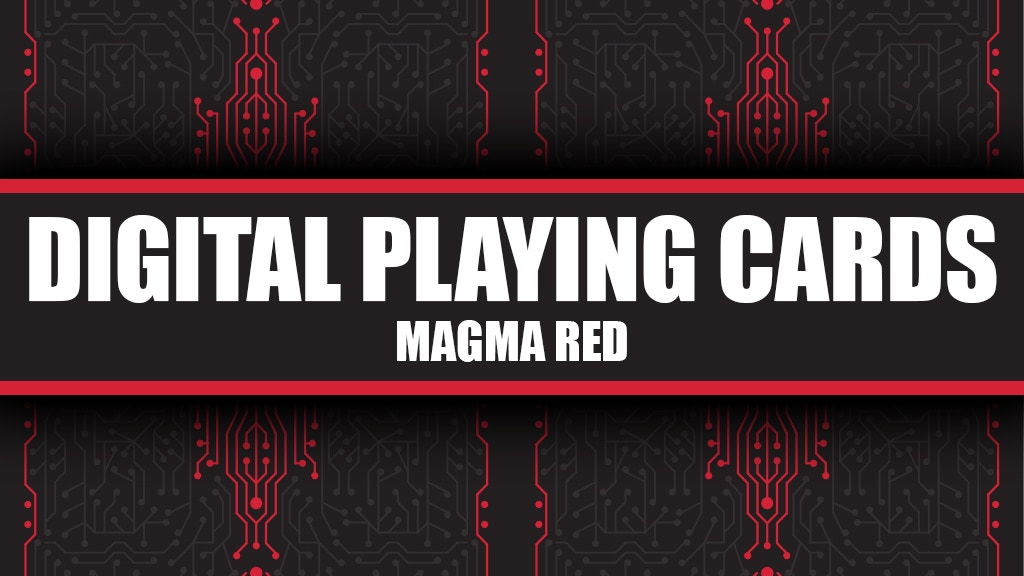 Digital Playing Cards - Magma Red