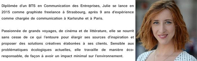JULIE BELLULE : graphiste