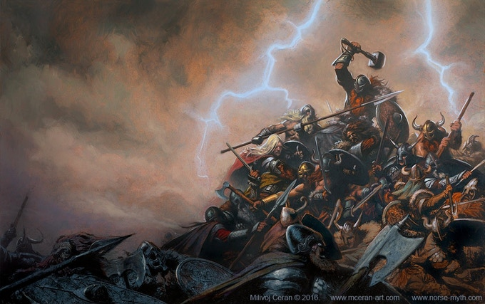 Aesir and Vanir Fight