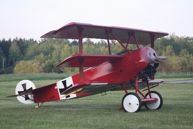 The Fokker Dr.I waits its turn. Let's get it back in the air!
