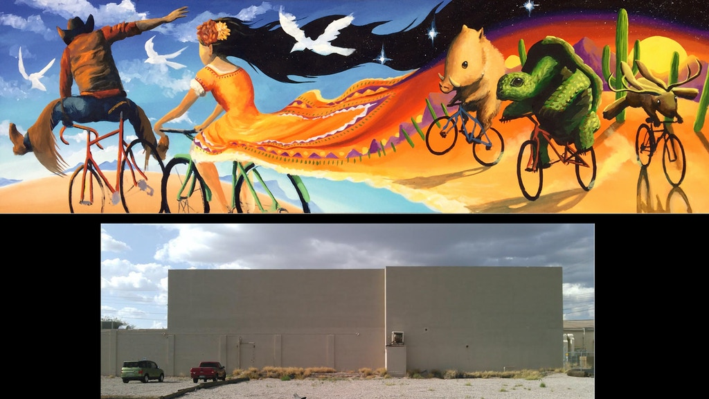 Huge Cycling / Bike Mural for Tucson Arizona project video thumbnail