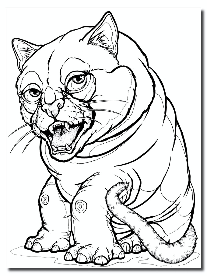 Metots : Totem Spirit Animal Postcard Coloring Book by Amy