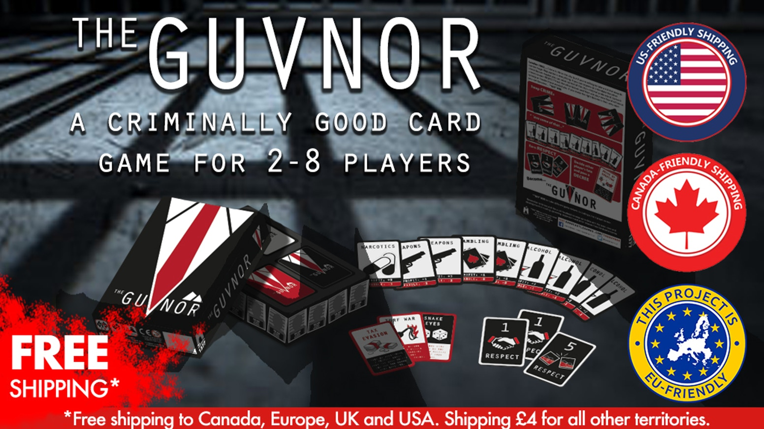 the guvnor a criminally good card game for 2 8 players by commedia productions kickstarter. Black Bedroom Furniture Sets. Home Design Ideas