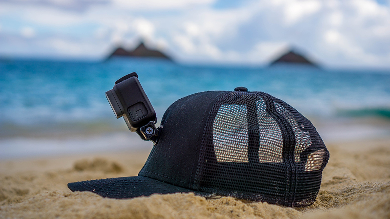 Because honestly, the head strap sucks. Filming your adventure hands-free is now as easy as popping on a hat. Water-ready, it FLOATS!