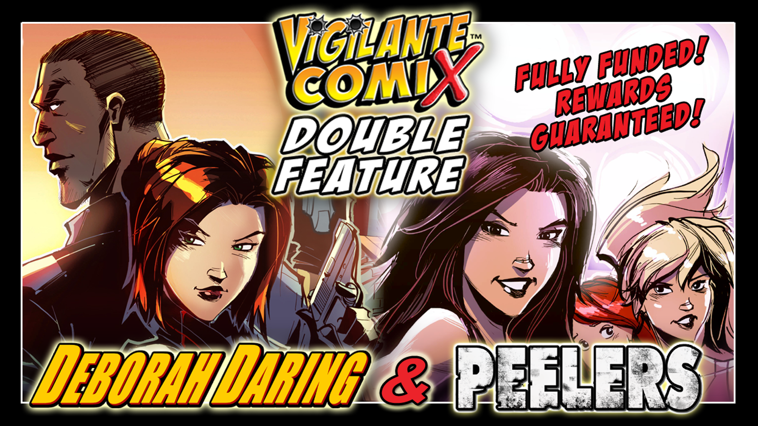 Vigilante Comix presents a double feature of Deborah Daring #3: 'Russian Face-Off' and Peelers #1: 'Dark Days Ahead'.  DOUBLE THE FUN! Available now at our eStore!