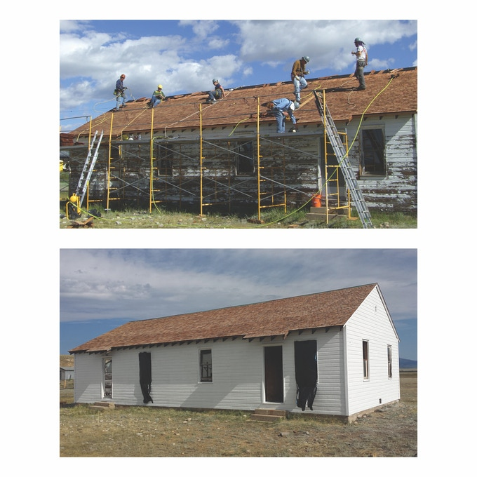 HistoriCorps volunteers provided a new roof, fresh paint & window repair.