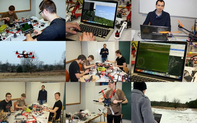 Dron-x TEAM at work