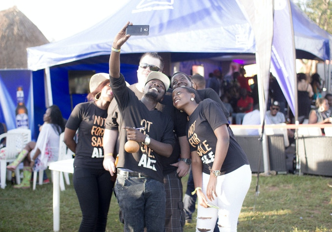 Selfie session at the Kampala Beer Festival