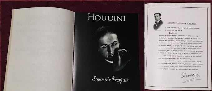 Lee Jacob rare Antique Series Houdini Souvenir Program, autographed on request