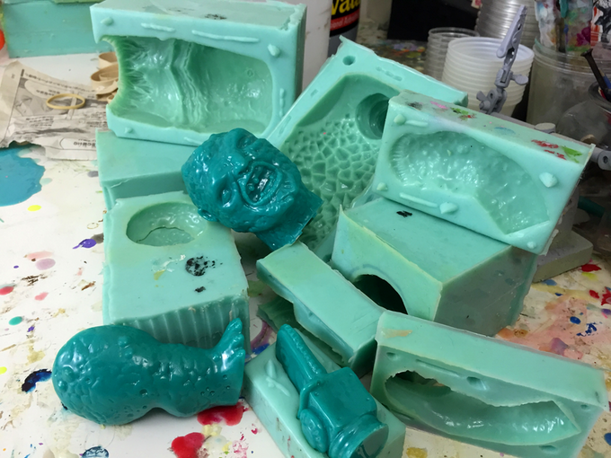 Silicone molds for the resin master