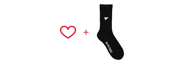 Pledge includes 1x Black Gym Sock