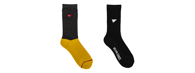 Pledge includes 1x Black Gym Sock & 1x Grey/Yellow Casual Sock