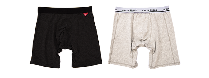 Pledge includes 1x Black Casual Boxer & 1x Light Grey Performance Boxer