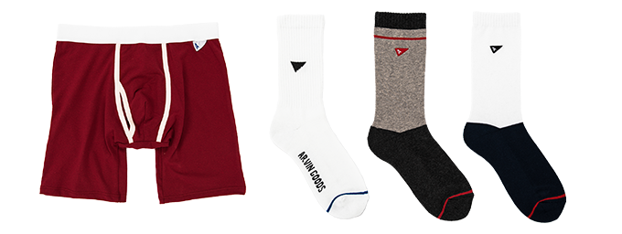 Pledge includes 1x Red Boxer Brief / 1x White Gym Sock / 1x Grey/Black Casual Sock / 1x White/Navy Casual Sock