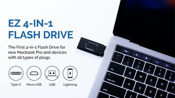 EZ, The World's First 4-In-1 USB Flash Drive For All Devices
