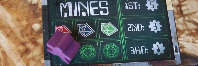Robotanists deployed into the mines will gain favor based on how prevalent the color of gem they are retrieving is within the garden. (Prototype components shown)