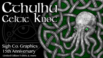 Lovecraft's Cthulhu Celtic Knot Shirts by Sigh Co. Graphics