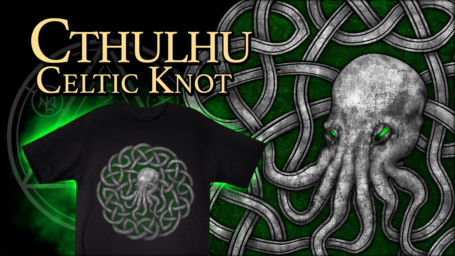 b9899e1e0 This limited edition Cthulhu Celtic Knot t-shirt design celebrates 15 years  of Sigh Co
