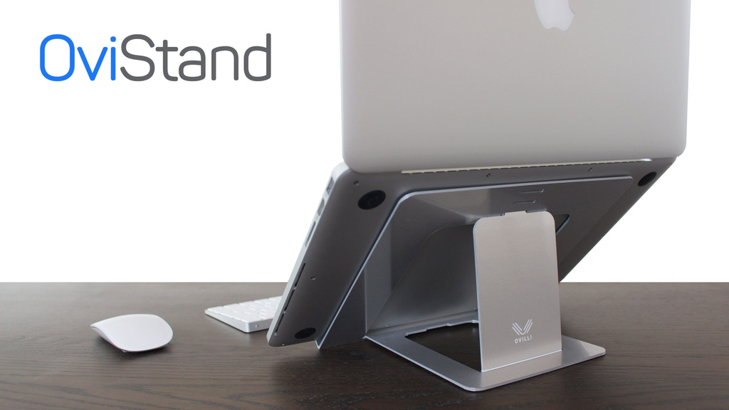 OviStand, the feather light foldable laptop stand project video thumbnail