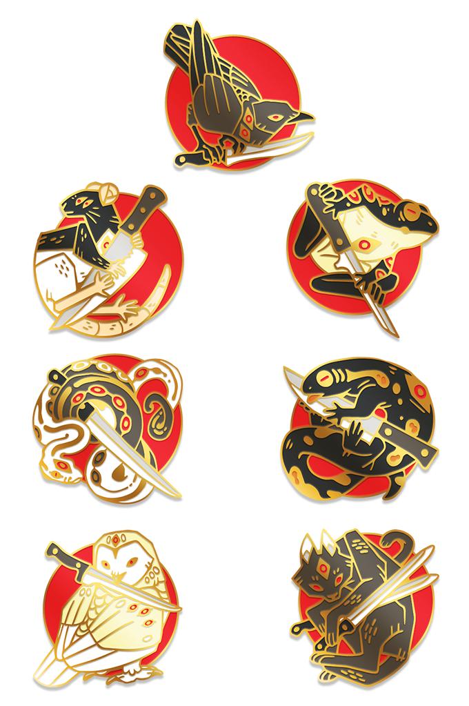 Familiar Feelings Enamel Pins by Crow Council —Kickstarter
