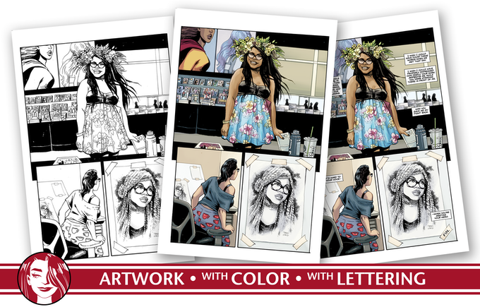 Writers, artists, colorists, and the letterer collaborate to share these stories