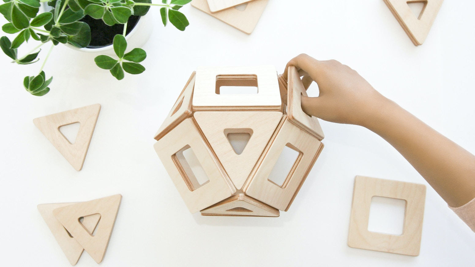 Encourage creativity and spatial thinking with toys made from sustainably harvested wood.
