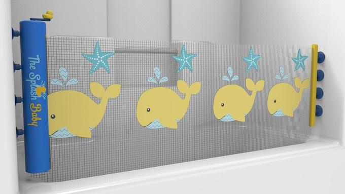 the splash baby the first bathtub splash guard for kids by jessica ross kickstarter. Black Bedroom Furniture Sets. Home Design Ideas