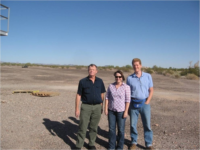 KOFA Test Range with Test Director and Green Launch members