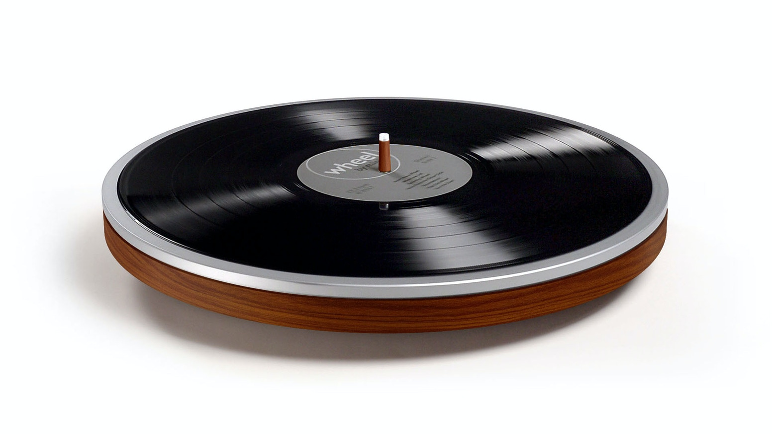 The record finally gets the turntable it deserves. Wheel is a record player that's just a wheel.