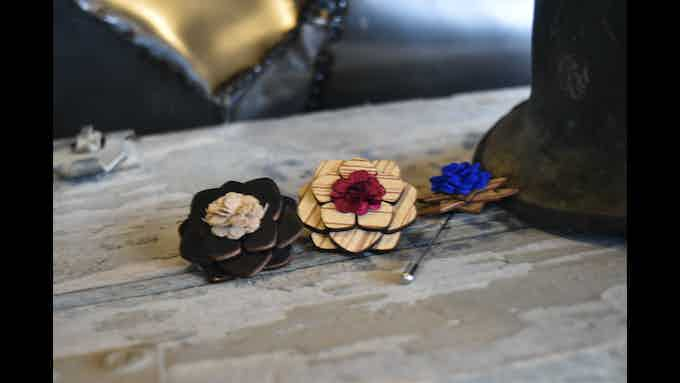 Every Timber Tie will be accompanied by a matching wooden boutonniere