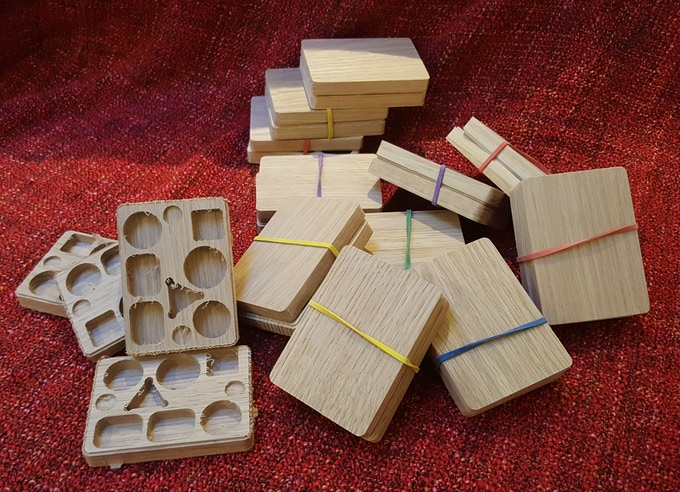 Boxes are being made - bottom left is boxes still to be sanded