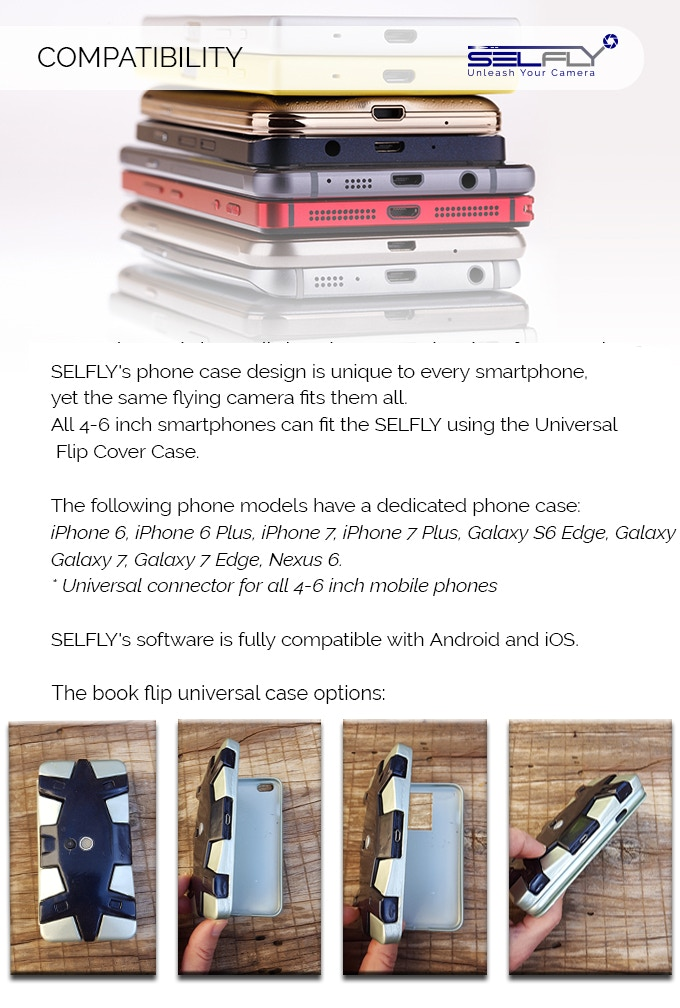 SELFLY Camera: The smart, flying, phone case camera by