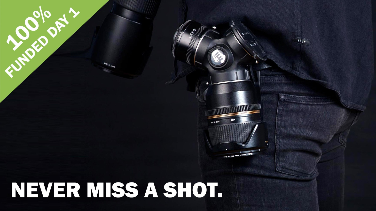 The TriLens safely carries up to three of your favorite DSLR lenses and changing your glass has never been faster. Follow the link below to secure your copy.