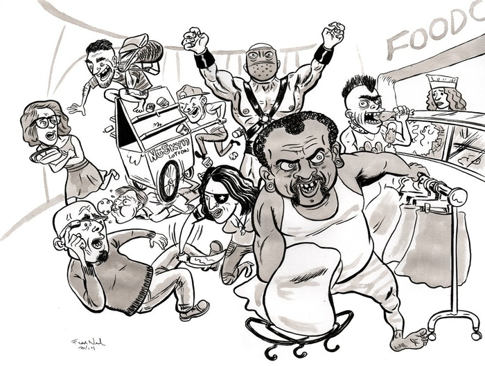 Illustration from SF WEEKLY by Fred Noland.