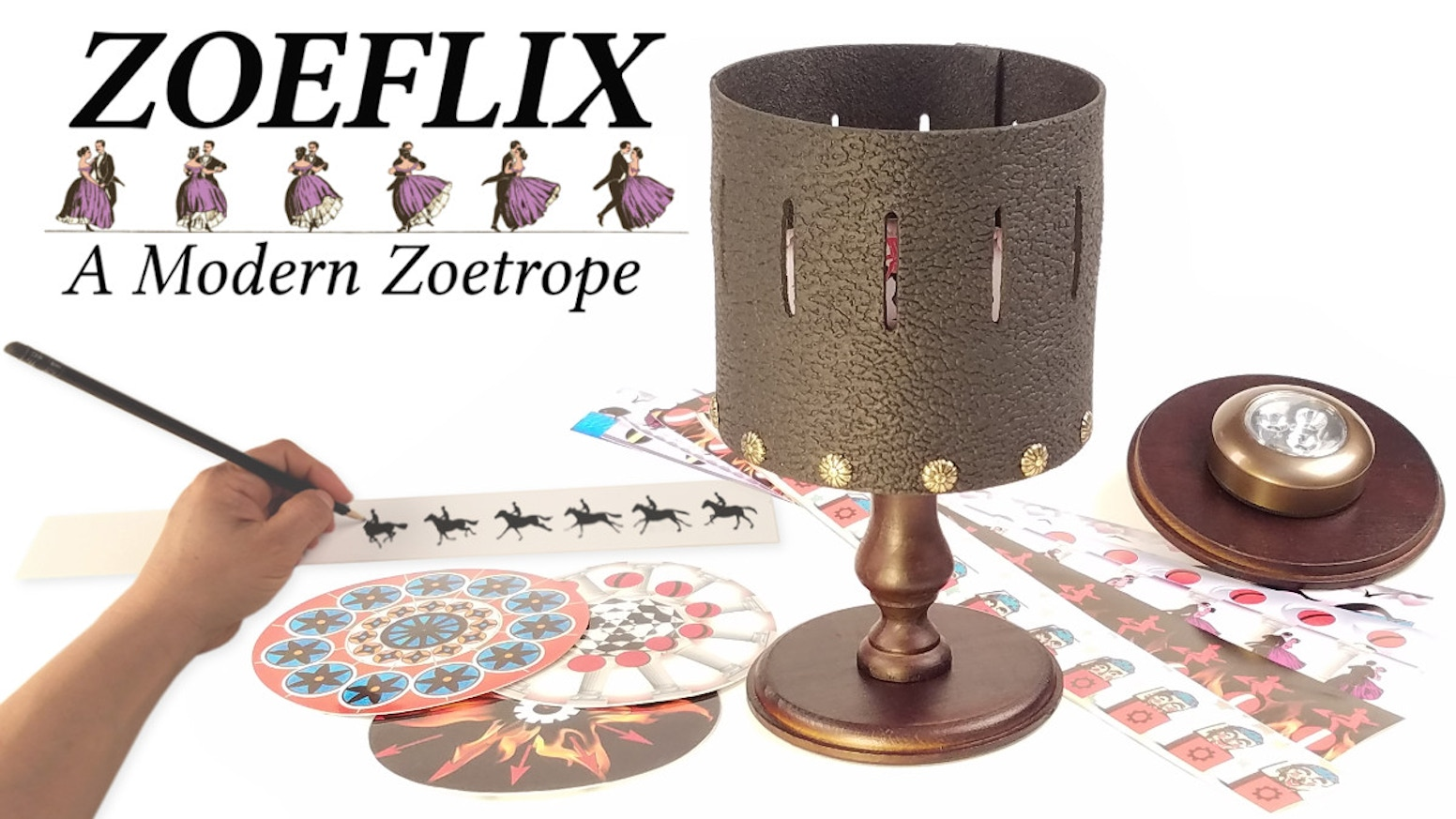 ►Mesmerizing animation device ►Draw your own endless cartoons ►The beauty and charm of the Zoetrope at home, office, school!