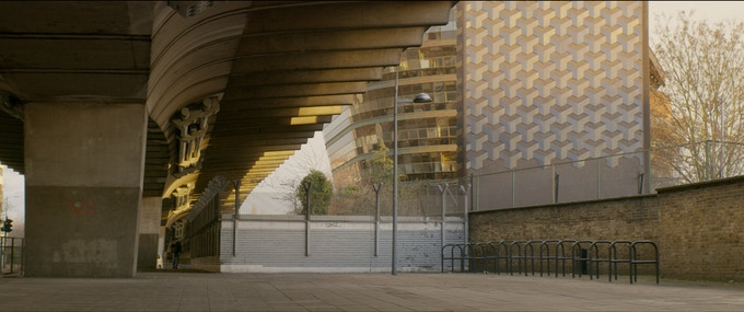 Still of the flyover from one of our test shoots using Cooke Anamorphic lenses.