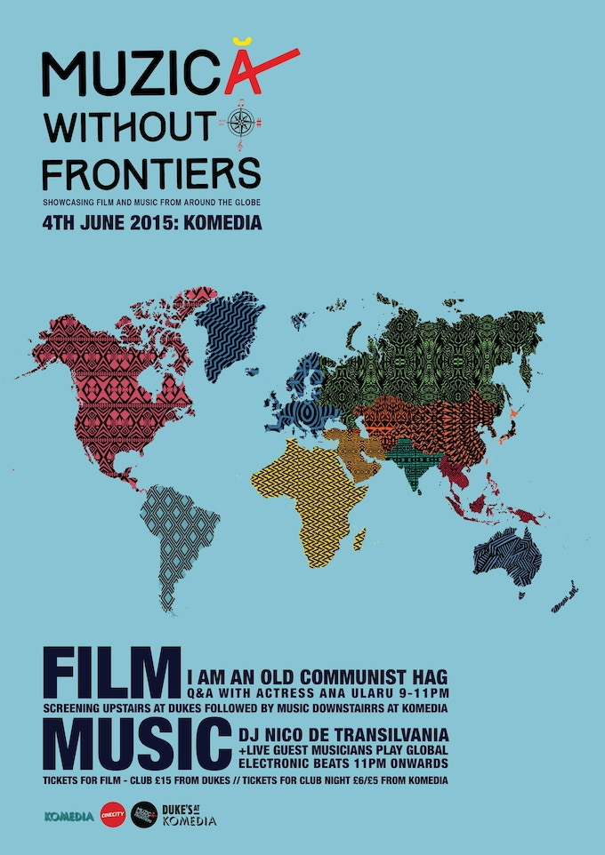 Poster from my first Muzicã Without Frontiers night