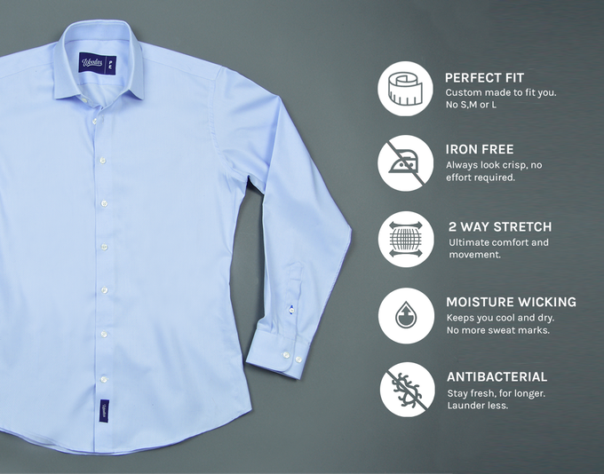 Woodies the ultimate performance dress shirt singapore for Moisture wicking dress shirts